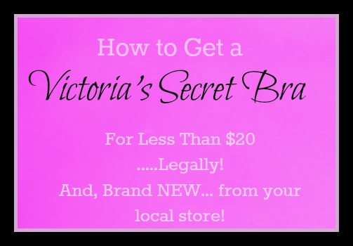 How to get a Victoria's Secret Bra Super Cheap