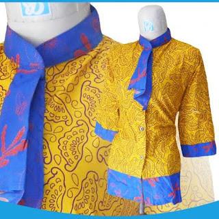 Model Busana Batik Kerja Formal Terbaru