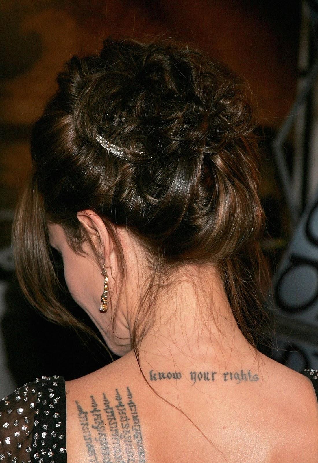 Angelina Jolie-Voight: TATTOOS   Polski blog
