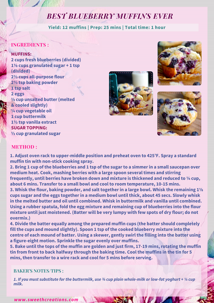 BEST BLUEBERRY MUFFINS EVER RECIPE