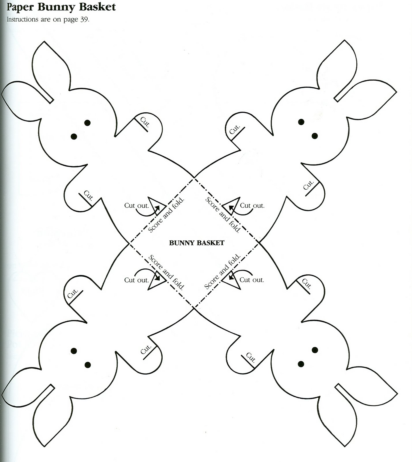 small easter egg template - inkspired musings easter bunnies