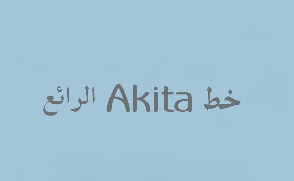 خط Akita الرائع