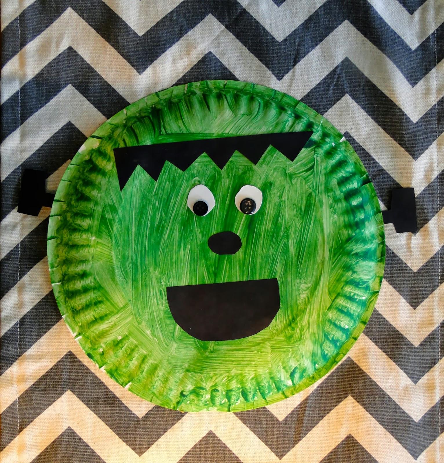 easy halloween paper plate crafts frankenstein