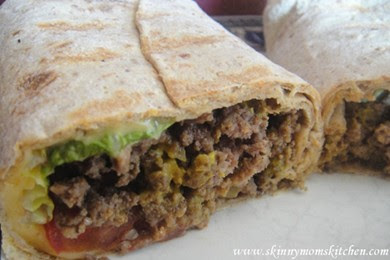 Low Calorie Cheeseburger Wrap under 500 calories  #lowcaloriewraprecipe