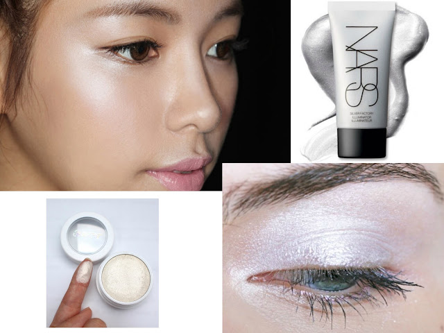 nars runway inspiration colorpop liquid highlighter silver eyeshadow