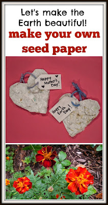 DIY recycled seed paper