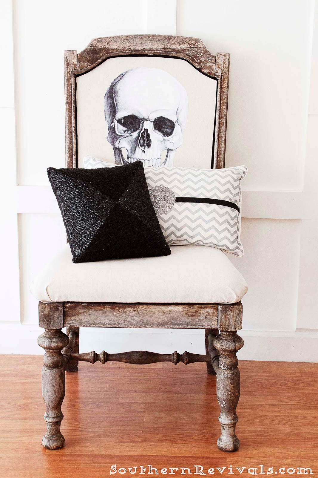 Wooden Skull Chair Office Carpet Protector Uk Diy Halloween Skeleton A Fun Upcycle For