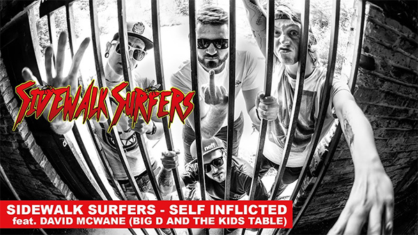 """Sidewalk Surfers premiere video for """"Self Inflicted"""""""