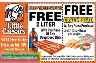 photograph regarding Little Caesars Printable Coupons named Printable Coupon codes 2019: Minor Caesars Coupon codes