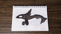 Watercolor: Evolution of Whale