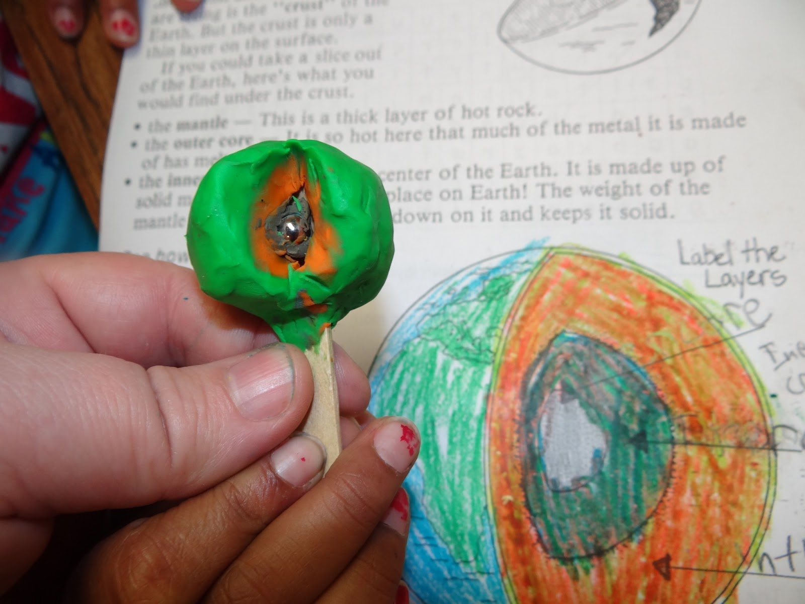 Patties Classroom Layers Of The Earth Clay Models