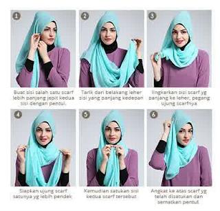 Tutorial hijab Scarf Segi Empat Gaya Terbaru 2018