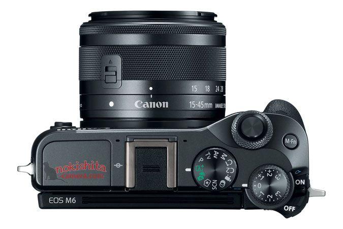 Canon EOS M6, вид сверху