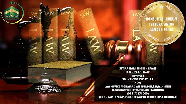 Layanan Terbaru SBL - Konsultasi Hukum Bagi Semua Jamaah SBL Secara GRATIS..!!!