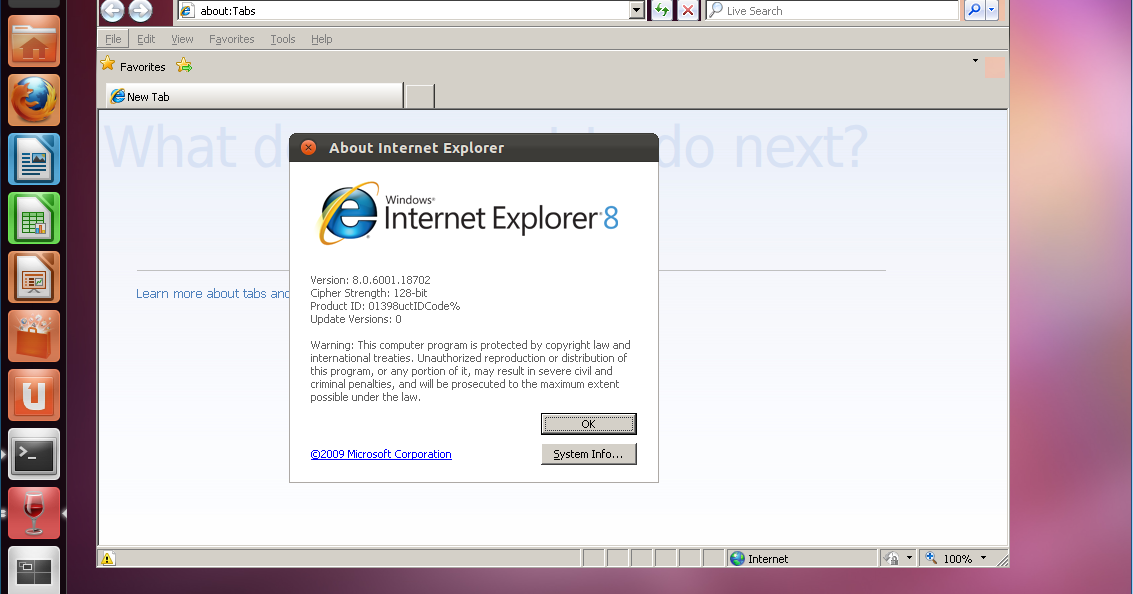 How to install internet explorer 8 on linux using playonlinux.
