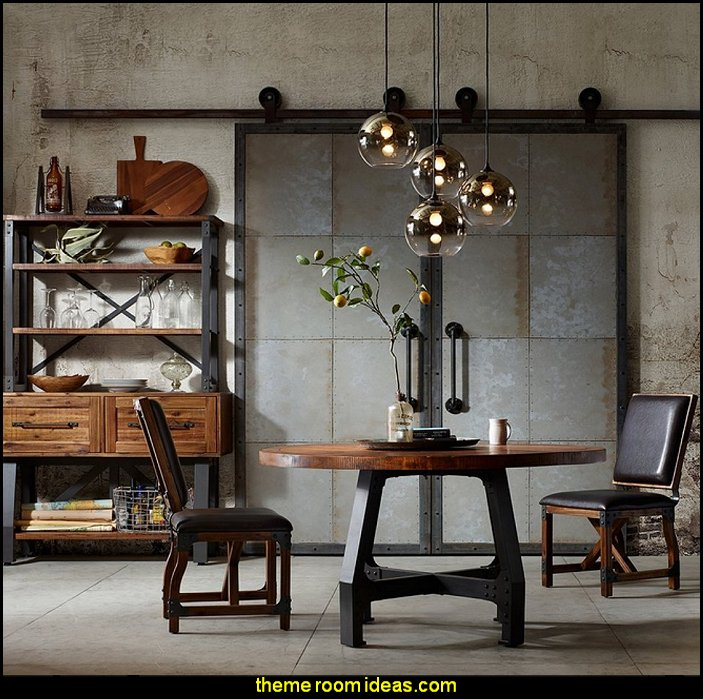 Decorating theme bedrooms maries manor industrial style for Industrial rustic design furniture