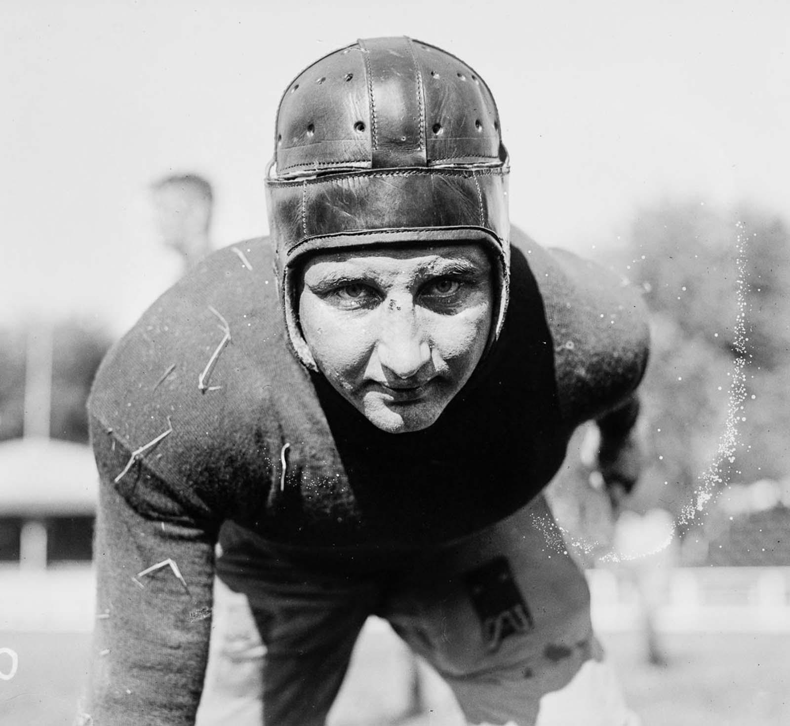 Georgetown University player C. Wertz. 1918.