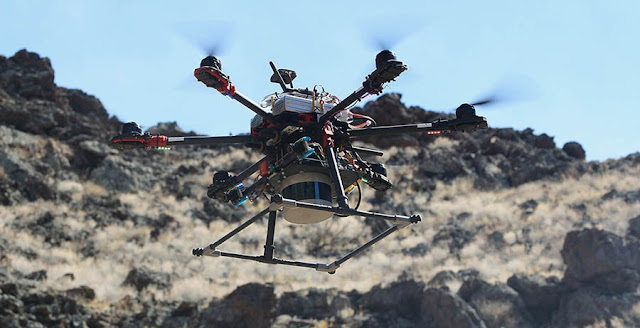 Astrobotic field-tested their autonomous navigation in Aden Crater in the Potrillo Lava Fields, New Mexico.