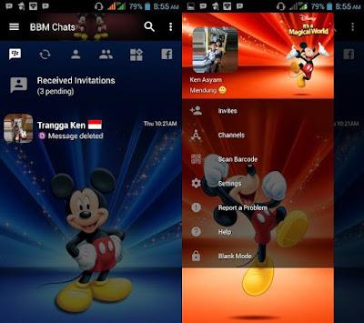 BBM Mod v3.2.5.12 Mickey Mouse APK