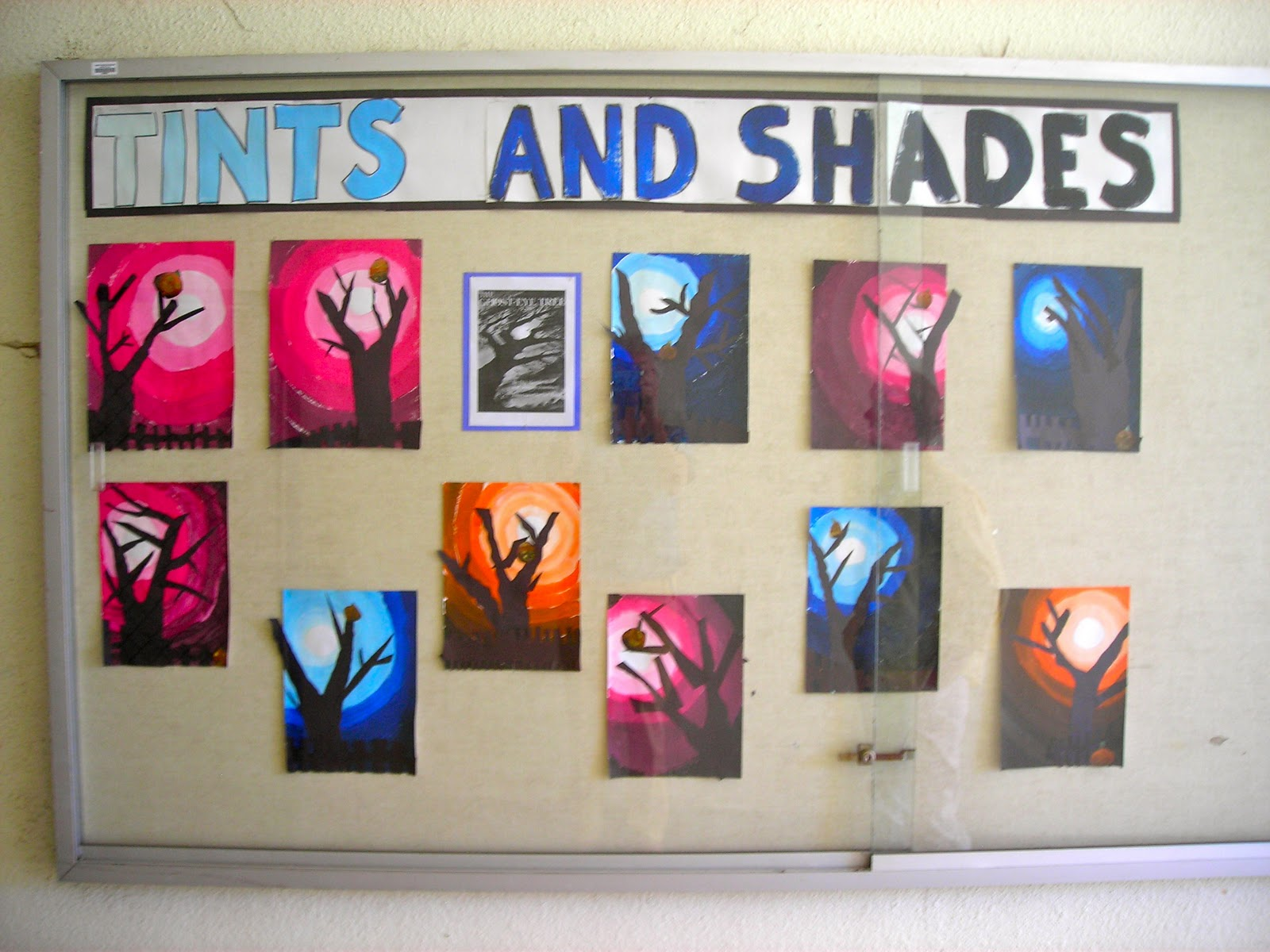 Fine Lines 3rd Grade Ghost Eye Trees