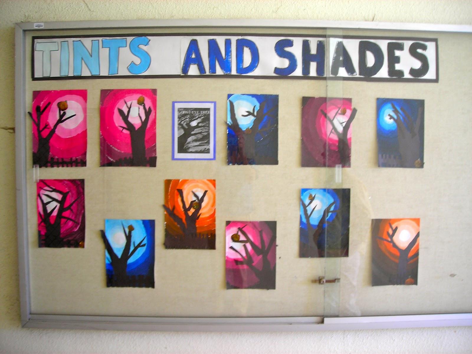 Fine Lines 3rd Grade Ghost Eye Trees