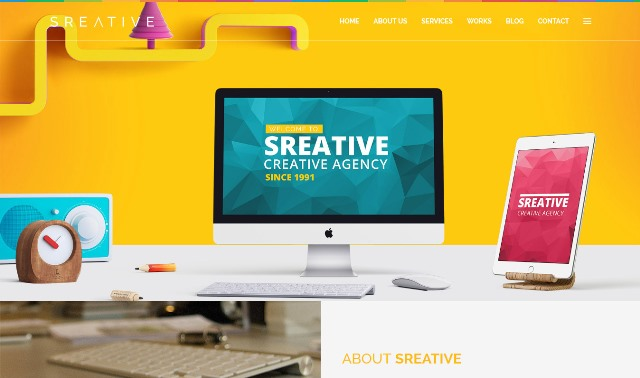 Sreative - Digital Agency Html Template