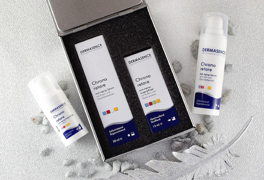 speziell für empfindliche Haut, Dermasence Chrono retare Anti Aging Serum
