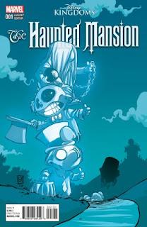 """Voici une petite preview pour le nouveau titre de la collection Marvel: Disney Kingdoms. Cette série prend pour point de départ la célèbre attraction Disney le """"Manoir Hanté"""", elle sera écrite par Joshua Williamson et illustrée par Jorge Coehlo. La sortie  de """"The Haunted Mansion"""" est prévue le 9 mars 2016 aux USA."""