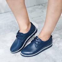 Pantofi dama Piele Didiane albastri casual