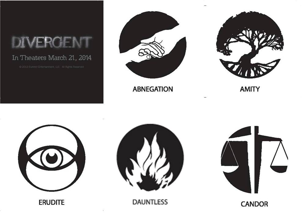 Lapel Pins and More of Divergent Faction Symbols for the ...