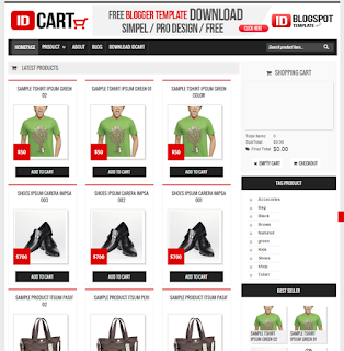 idCART Blogger Template