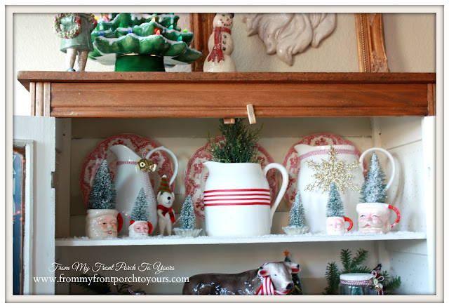 Farmhouse Christmas Kitchen-Christmas Vignettes-Sanat Mugs-From My Front Porch To Yours