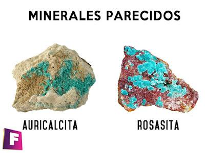 La rosasita es un mineral parecido a la auricalcita, pero se diferencia por su dureza