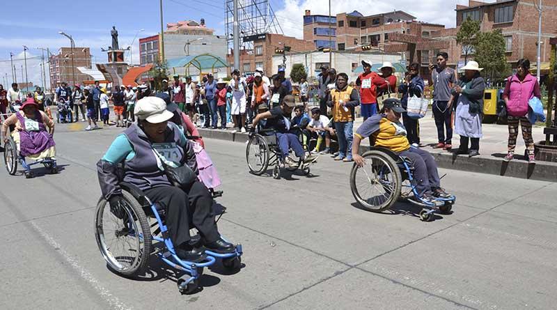 Municipio apoyó práctica deportiva inclusiva de este sector en El Alto