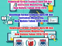 Download Format Evaluasi Guru BK dan Instrumen Monitoring  New Update Tahun 2018/2019