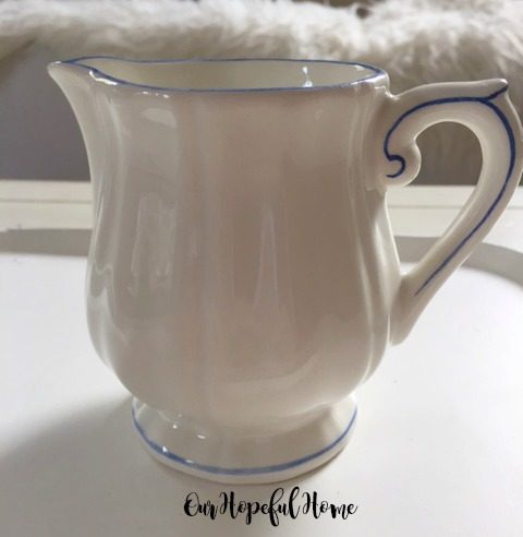 Gien France Filet Bleu pattern creamer Marie-Pierre Coitard