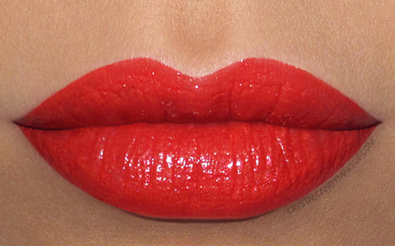 Buxom Shimmer Shock Lipstick Swatch Dynamite