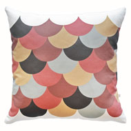 Scallop Print Cushion from the Indian Summer collection