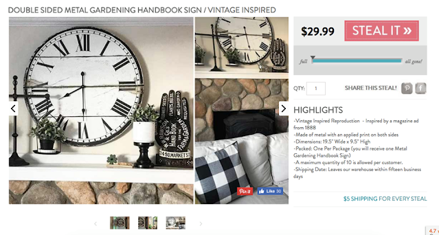 decor steals advertisement with mantel and clock