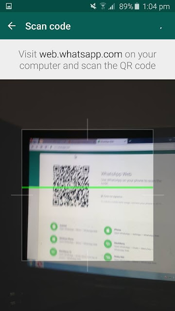 how to scan code on whatsapp web