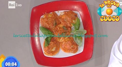 Ravioli con gambuccio e stracchino e salsa piccante ricetta Salvatori da Prova del Cuoco