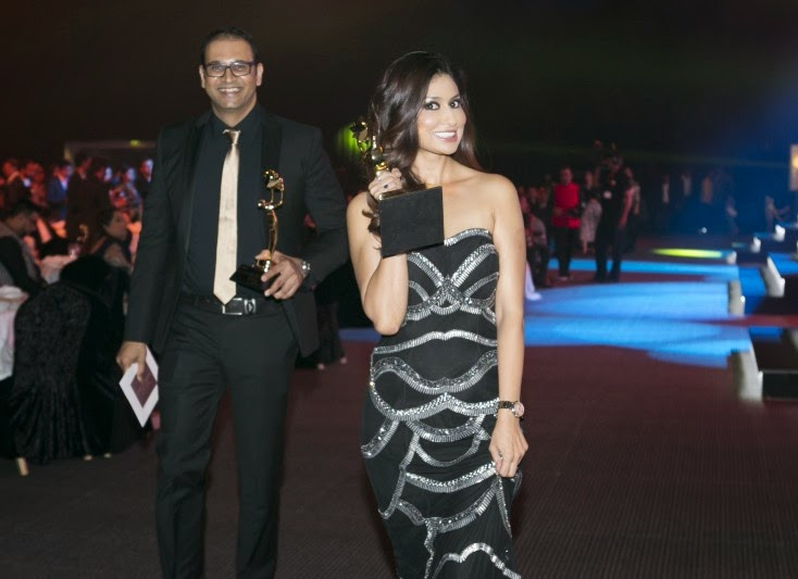 Yogesh and Uma Ghosh Deshpande, Masala! Awards 2014 Inside Pics