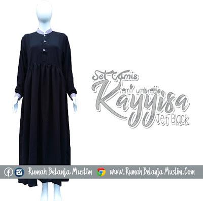 Gamis Muslimah Jetblack Kayyisa