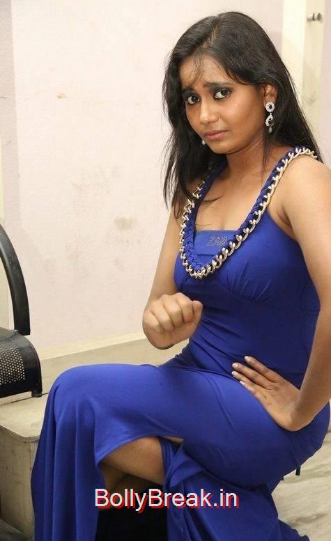 Tollywood Actress Anusha, Anusha Hot Pics in Blue Dress