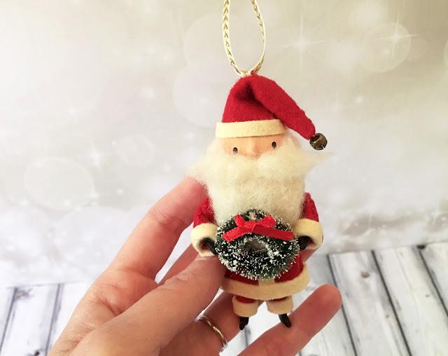 Vintage Style Santa Ornament