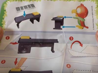 Попугай с клавишами Kinder Maxi