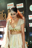 Apoorva Spicy Pics in Cream Deep Neck Choli Ghagra WOW at IIFA Utsavam Awards 2017 29.JPG