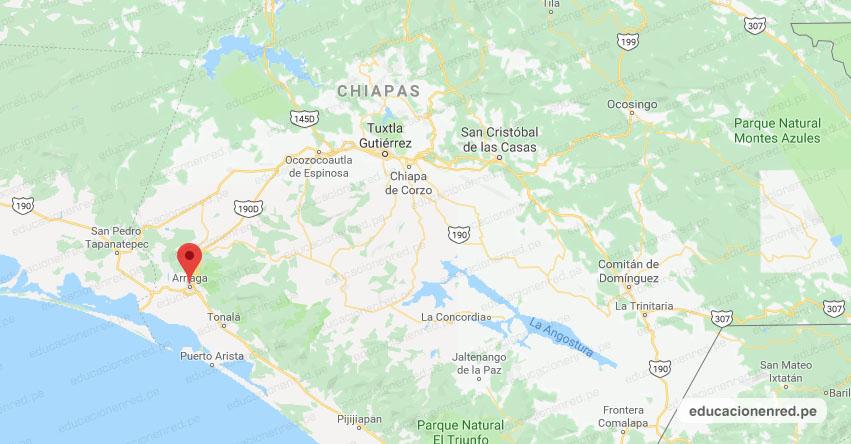 Fuerte Sismo en México de Magnitud 4.2 (Hoy Viernes 5 Octubre 2018) Terremoto Temblor Epicentro - Arriaga - Chiapas - www.ssn.unam.mx
