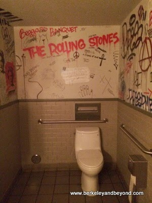 speakeasy bathroom a la Rolling Stones at The Cavalier restaurant in San Francisco