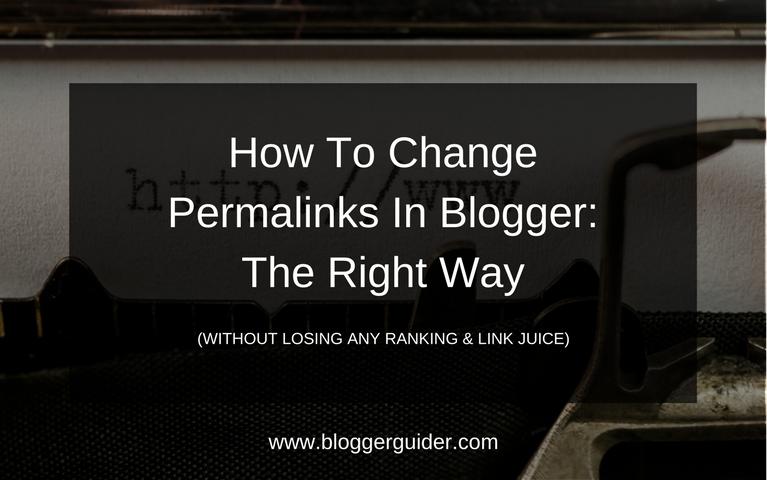 Change blog posts permalink
